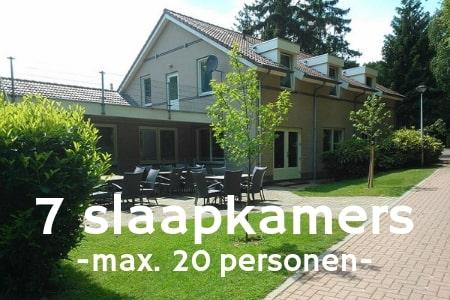 Groepsaccommodatie 26 personen bij Nijmegen