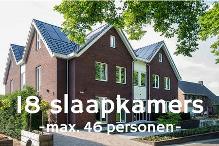 Groepsaccommodatie 46 personen bij Nijmegen