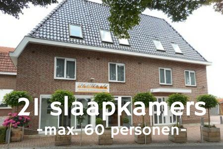 Groepsaccommodaties 60 personen bij Nijmegen