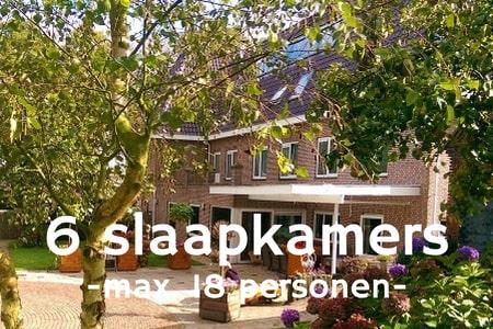 Groepsaccommodatie 18 personen bij Nijmegen