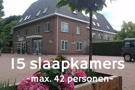 Groepsaccommodatie 42 personen bij Nijmegen