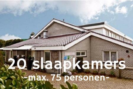 Groepsaccommodatie 60 personen bij Nijmegen