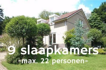 Vakantiehuis Nijmegen, 22 personen, 9 slaapkamers