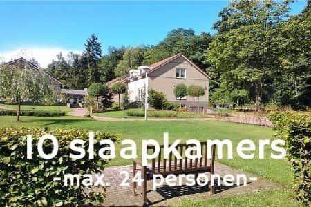 Vakantiehuis bij Nijmegen voor 24 personen, 10 slaapkamers