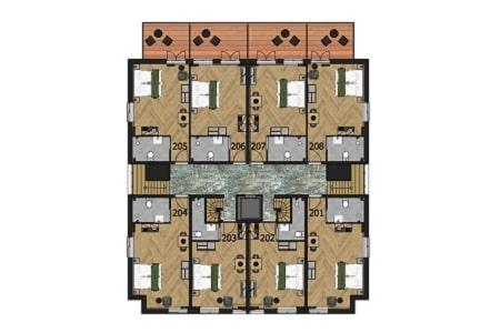 Plattegrond Groepshotel Berg en Dal, 2e verdieping