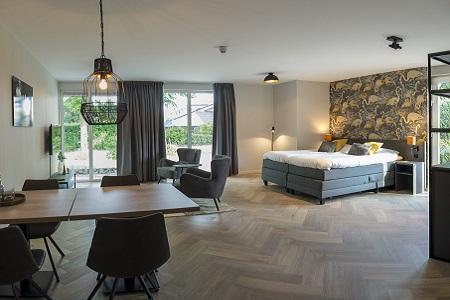 Luxe groepsaccommodatie, voorbeeld slaapkamer