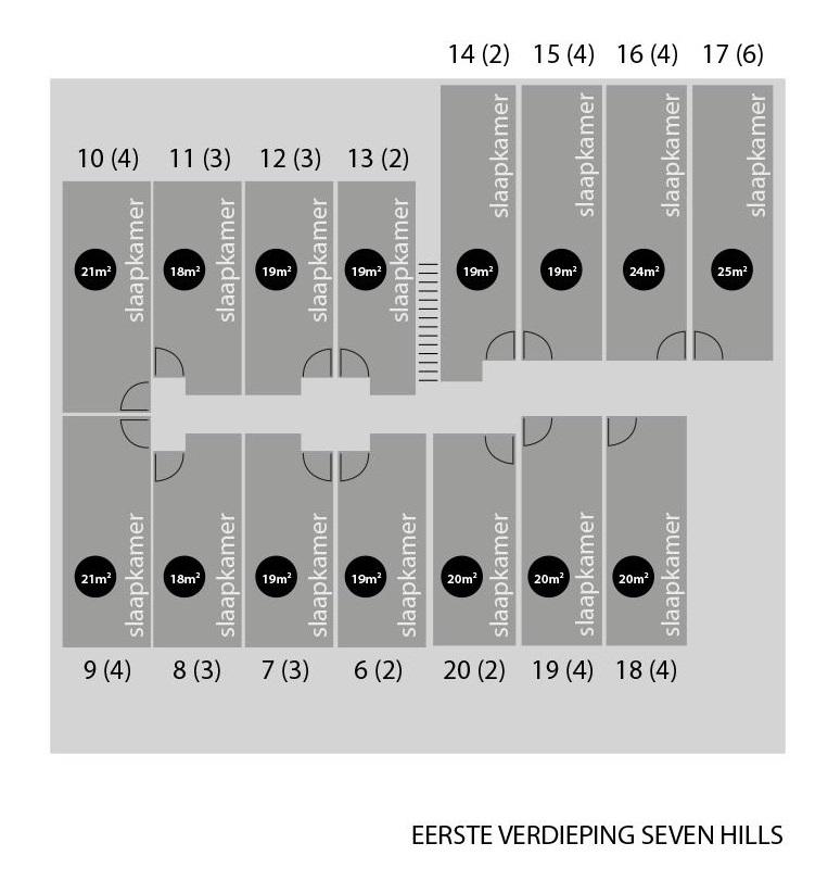 Plattegrond Seven Hills eerste verdieping
