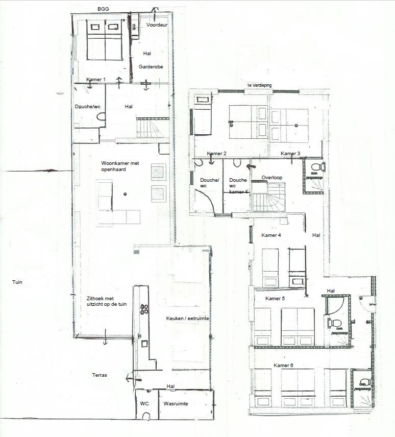 Plattegrond Millers Home Groesbeek